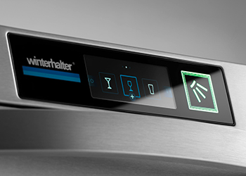 Smart Touch Display Winterhalter voorlader vaatwasmachines