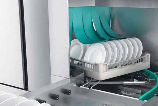 CTR compact rack conveyor dishwasher by Winterhalter