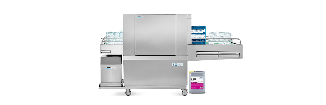 Winterhalter STF single-tank flight-type glasswasher