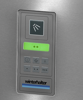 Winterhalter PT-500 passthrough dishwasher colour display