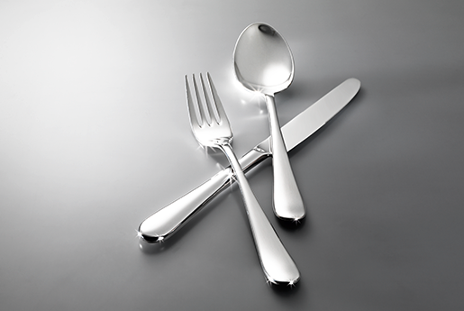 Cutlery that doesn't need polishing
