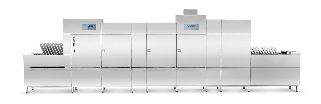 MTF multi-tank flight-type dishwasher for canteen kitchen   Winterhalter