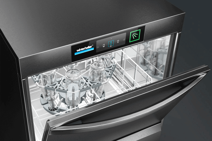 Winterhalter undercounter warewashers for bottles and carafes