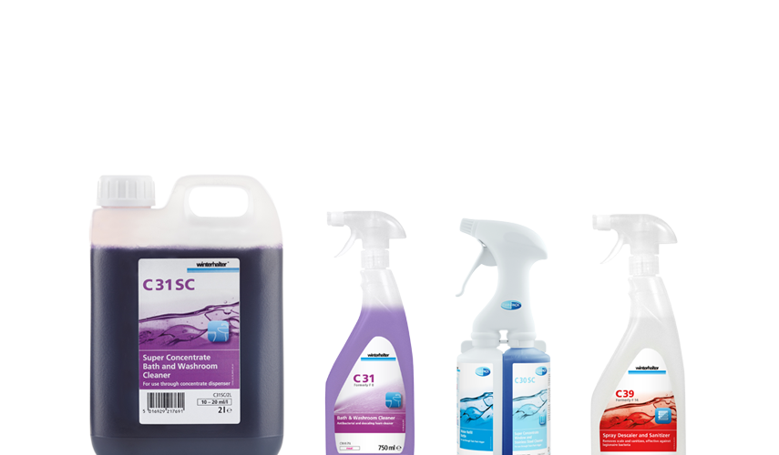 Winterhalter detergents and rinse aids housekeeping