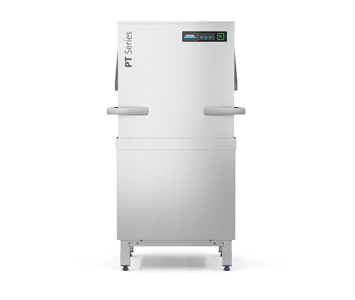Winterhalter PT Series passthrough dishwasher for hotels